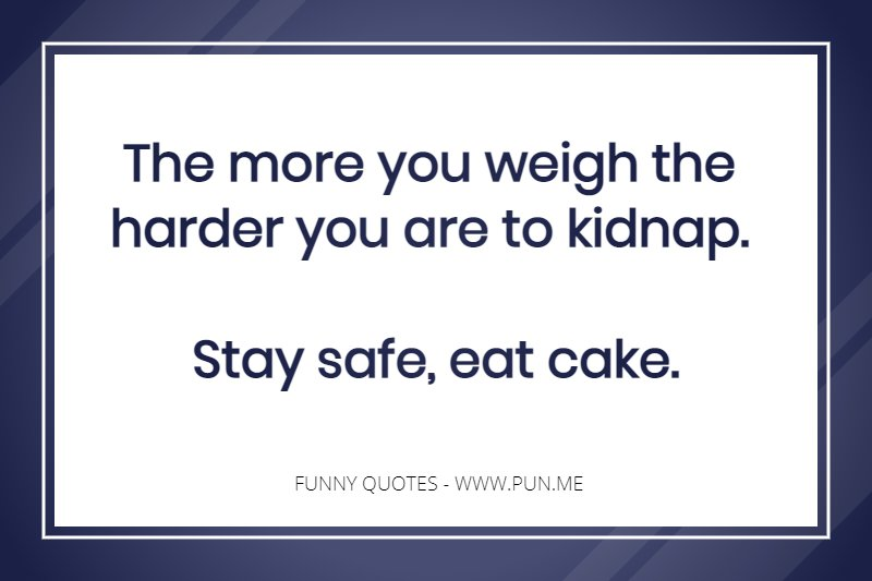 Funny Quote About Eating Cake