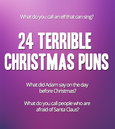 24 Funny Christmas Puns - One for every day of december until christmas! | Pun.me